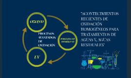 PROCESOS AVANZADOS DE OXIDACIÓN