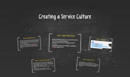 Creating a Service Culture