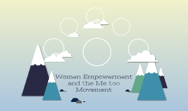 Women Empowerment and the Me too Movement