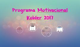 Programa Motivacional Kohler 2017