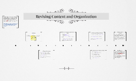 Revising Content and Organization