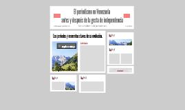 El periodismo en Venezuela antes y después de la gesta de in