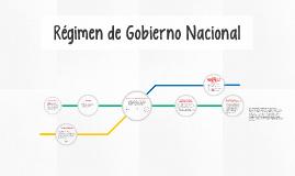 Régimen de Gobierno Nacional