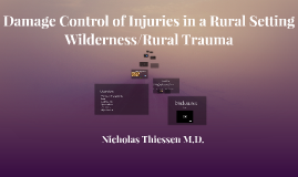 Wilderness/Rural Trauma