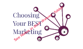 Choosing Your BEST Marketing