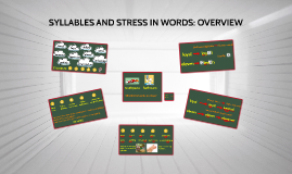 SYLLABLES AND STRESS IN WORDS: OVERVIEW (AP2)