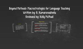 Copy of Beyond Methods: Macrostrategies for Language Teaching
