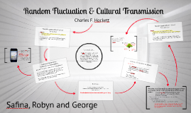 Random Fluctuation & Cultural Transmission