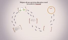 Mejora de un servicio educativo rural