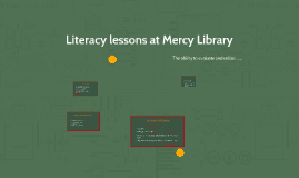 Literacy lessons at Mercy Library