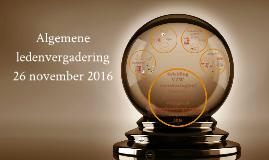 Algemene ledenvergadering 26 november 2016