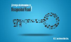 Estrategias de Intervención a la Discapacidad Visual