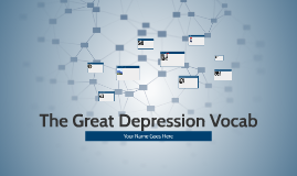 The Great Depression Vocab