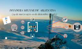 DITADURA MILITAR DE  ARGENTINA