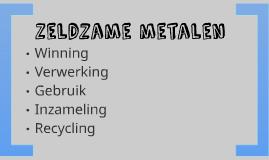 Zeldzame metalen