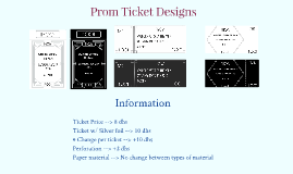 Prom Ticket Design