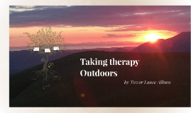 Taking Therapy Outdoors