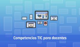 Estandares de Competencias en TIC