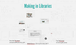 Making in Libraries