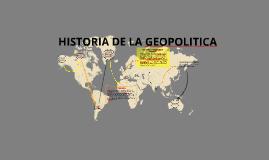 Breve HISTORIA DE LA GEOPOLITICA