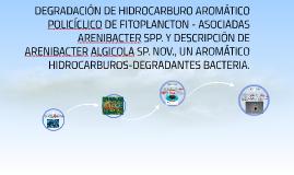 DEGRADACIÓN DE HIDROCARBURO AROMÁTICO POLICÍCLICO DE FITOPLA