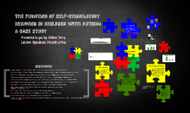 The function of self-stimulatory behavior in children with Autism: A case st