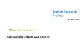 English Research Project- Kurt Cobain