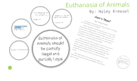 Research Topic- Euthanasia of animals