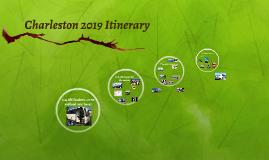 Charleston 2017 Itinerary