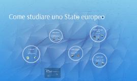 Come studiare uno stato europeo
