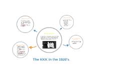 The KKK in the 1920's