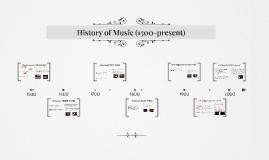 History of Music 1500-Present