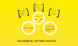 Evaluación del Software Educativo.