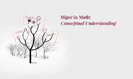 Rigor in Math: Conceptual Understanding