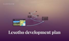 Lesotho development plan