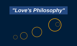 """Love's Philosophy"""