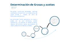 Determinacion de Grasas y Aceites