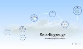 Solarflugzeuge