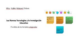 Las Nuevas Tecnologías y la Investigación Educativa