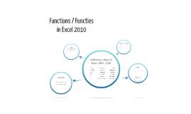 Functions / Functies