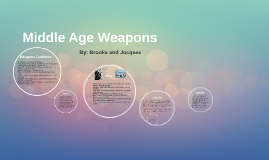 Middle Age Weapons