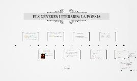 ELS GÈNERES LITERARIS: LA POESIA