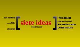 Siete ideas - intervención FONGDCAM