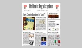 Italian's legal system