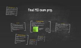 Final MS1 exam prep.