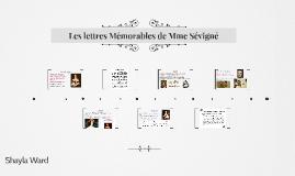 Les lettres Mémorables de Mme Sévigné