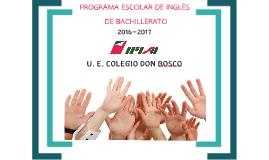 PROGRAMA DE INGLÉS 1ER AÑO 2016-2017