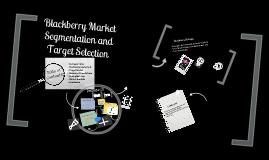 Blackberry target market