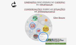 DIMENSÕES DISCURSIVAS NO CADERNO DO PROFESSOR: CONSIDERAÇÕES