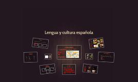 Lengua y cultura espanola